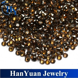 Best quality wholesale 2.0mm cubic zirconia brown cz