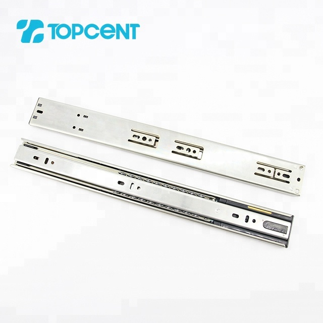 Topcent furniture hardware ball bearing soft close telescopic kitchen bayonet cabinet drawer slide