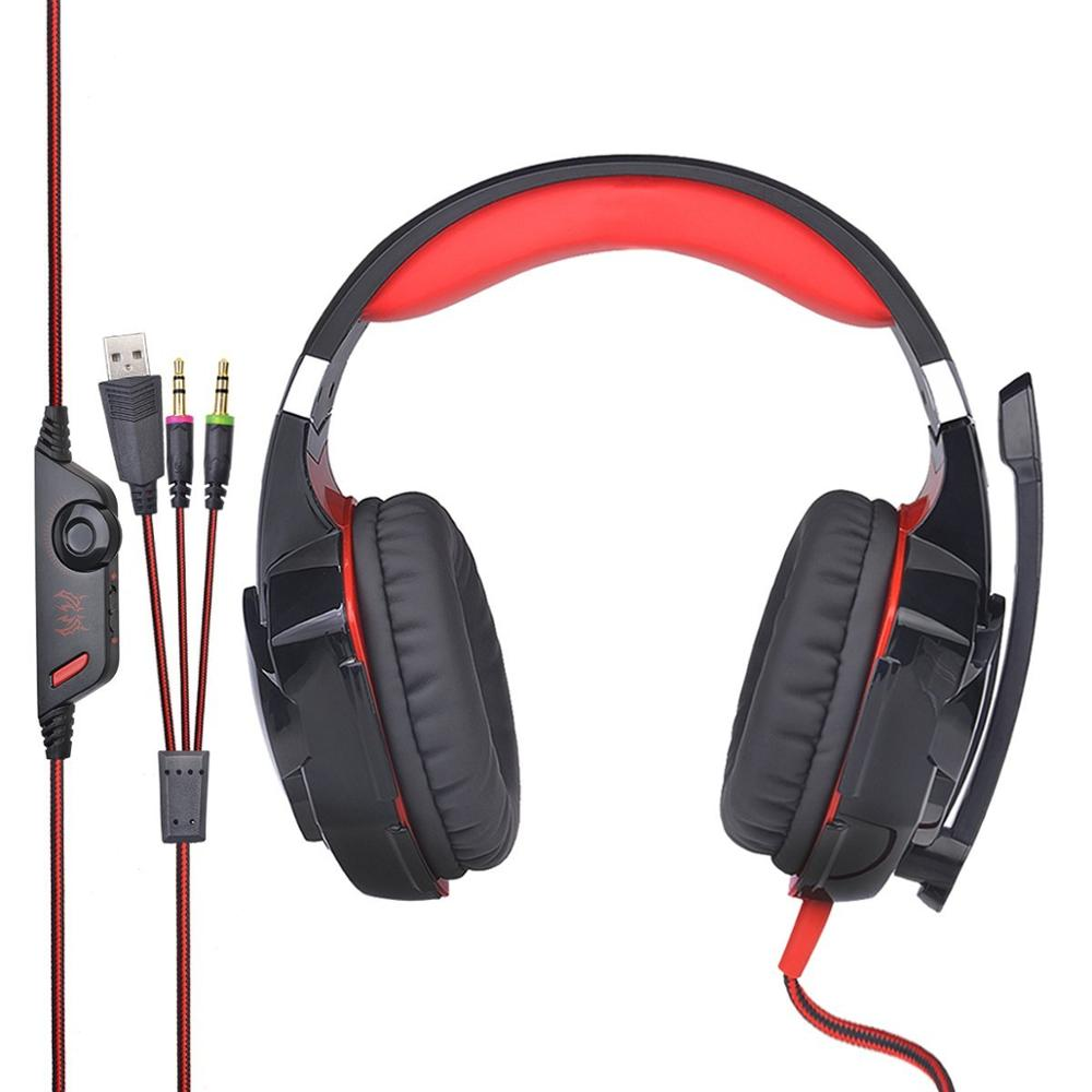 G2000 Migliore PC 7.1 Gaming Headset con la Luce del LED per PC Gamer