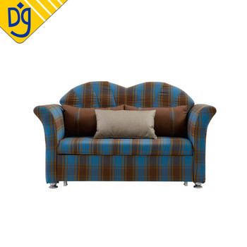 Quality Bargain Small Blue Plaid Two Seat Pull Out Sofa Bed With Product On