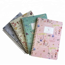 Cheap custom design cute spiral paper notebook/journal/diary book school student business notebooks