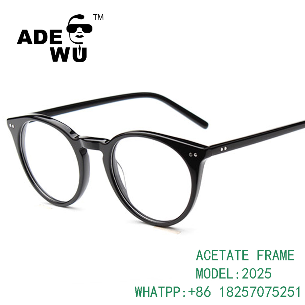 ADE WU 2016 round fashion acetate cat eye optical glasses frame for girls manufacturers in china