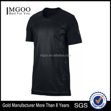 MGOO Promotional Mens Plain Round Neck T-shirt Ventilate Dri Fit Jersey Basketball Design 2017