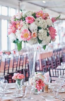 Clear Transpa Gl Flower Vase For Wedding Table Decoration