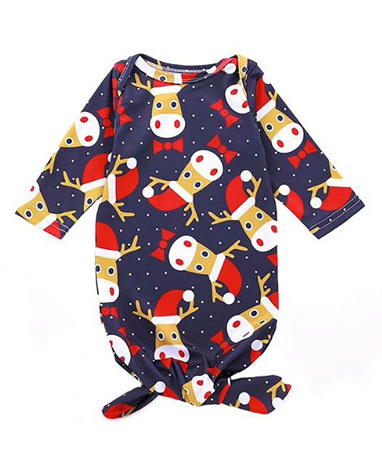 a42ac46f4c92 Sikye 3Pcs Cute Infant Baby Girl Boy Christmas Santa Claus Plush Tops  Pullover Pants Hat Clothing Set ...
