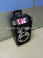"portable cd boombox with 7""display/MP3/sd/usb"