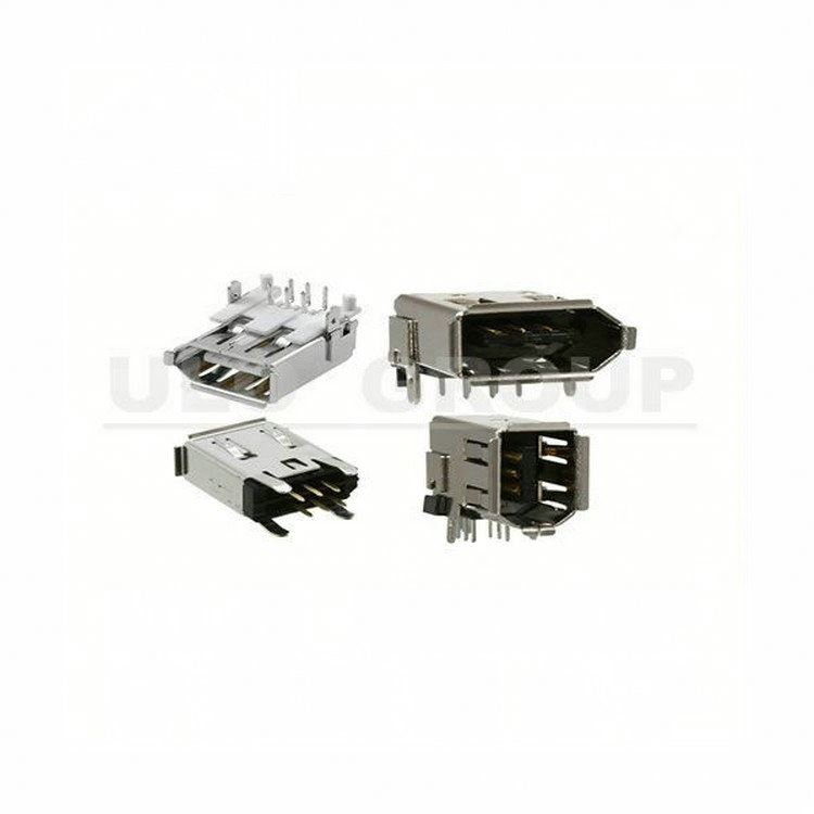 Black 4 p/f smt usb connector