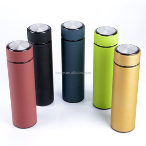 Double Walled Vacuum Sealed Insulated Stainless Steel Water Bottle Travel Mug Vacuum Flask with Tea Leaf Filter