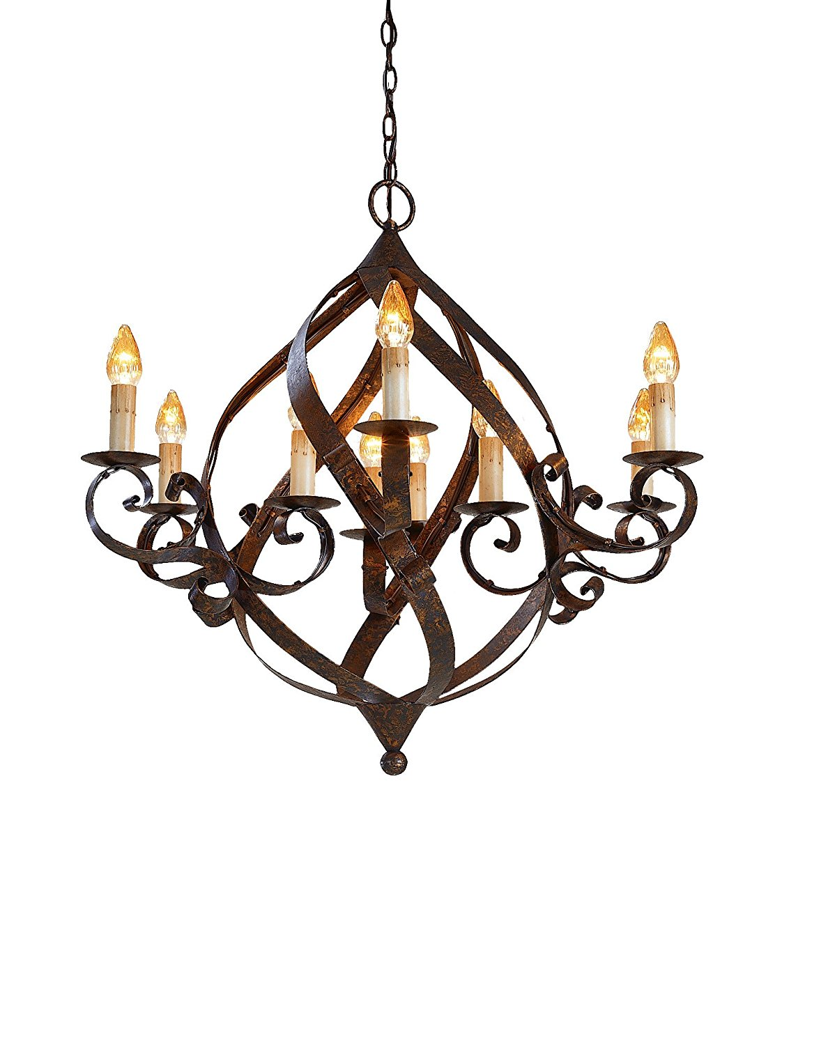 Currey and Company 9528 Gramercy 9-Light Chandelier, Mayfair Finish