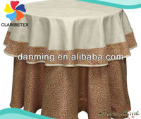 Top Quality Round Table Overlay and damask Round tablecloths