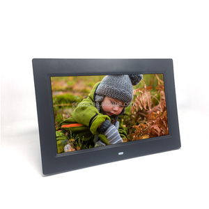 "WIFI Function 10"" LCD Video Advertising Display digital photo frame with fm radio clock and alarm"