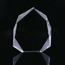 Iceberg Shaped Plaque Blank Optical Crystal Awards, K9 Crystal