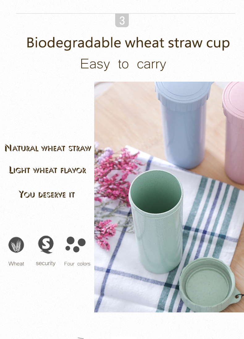 High Quality Natural Straw Bottle 400 ml Biodegradable Bottle Cold Water Bottle