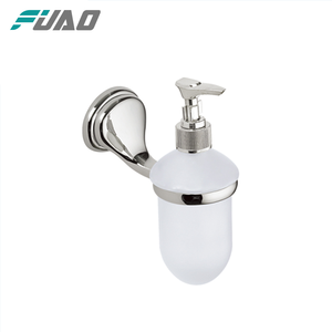 FUAO New design High quality wall mounted bamboo soap dispenser