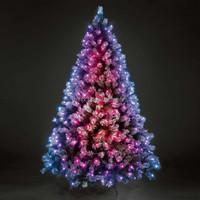 Top Quality Pre-lit Pink Lights Dense PVC Christmas Tree 6ft, Outdoor Metal Artifical Christmas Tree