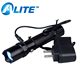 AAA or 18650 battery powered 365nm 220v rechargeable led UV flashlight