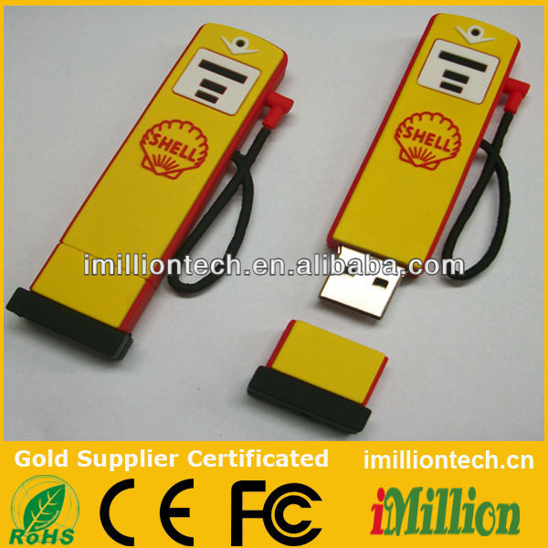 Custom gas station imillion shape pen drives usb proveedor