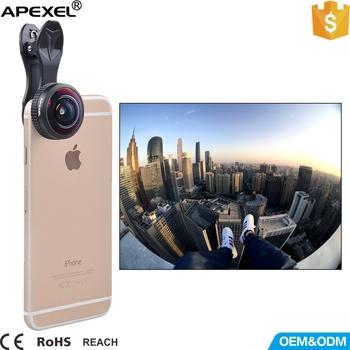 apexel universal 238 degree fisheye lens clip on cell phone camera ...