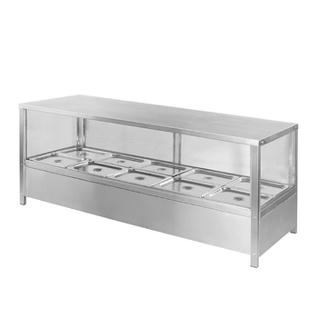 C281 6 Pans/8 Pans/10 Pans Bain Marie Showcase With Sliding Door