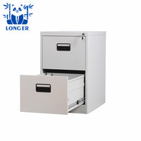 2 Drawer Vertical Cold Rolled Steel Office Filing Cabinet with Lock Key