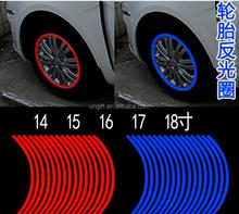 Car Styling Motorcycle Automobiles Wheel Tire Sticker On Car Rim Tape Car Sticker Parking Accessories
