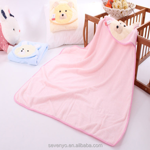 Bamboo baby bath towel high quality baby bath towel ideal for newborns and infants and toddlers bear face baby towel