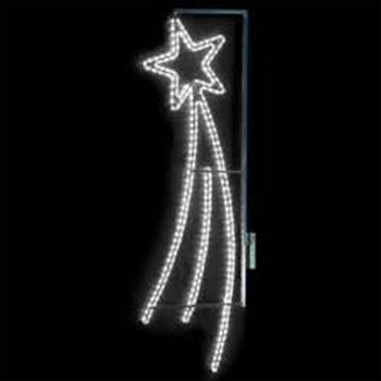 Outdoor White Rope Light Shooting Star Street Christmas Lights Led Pole Decorations Lamp Post