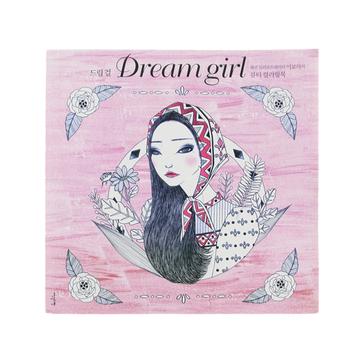 96 Sayfa Kore Rüya Kız Yetişkinler Için Boyama Kitapları Boyama