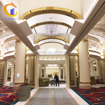 Casino Hotel Hall Luxurious Stainless Steel Metal Customized Room Ceiling Decorative