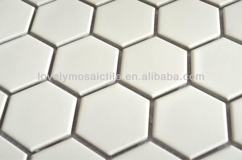 Foshan keramische tegels porselein wit zwart mozaïek hexagonale ...