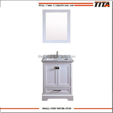 2017NEW mini size classic solid floor mounted bathroom cabinets with sinks vanity