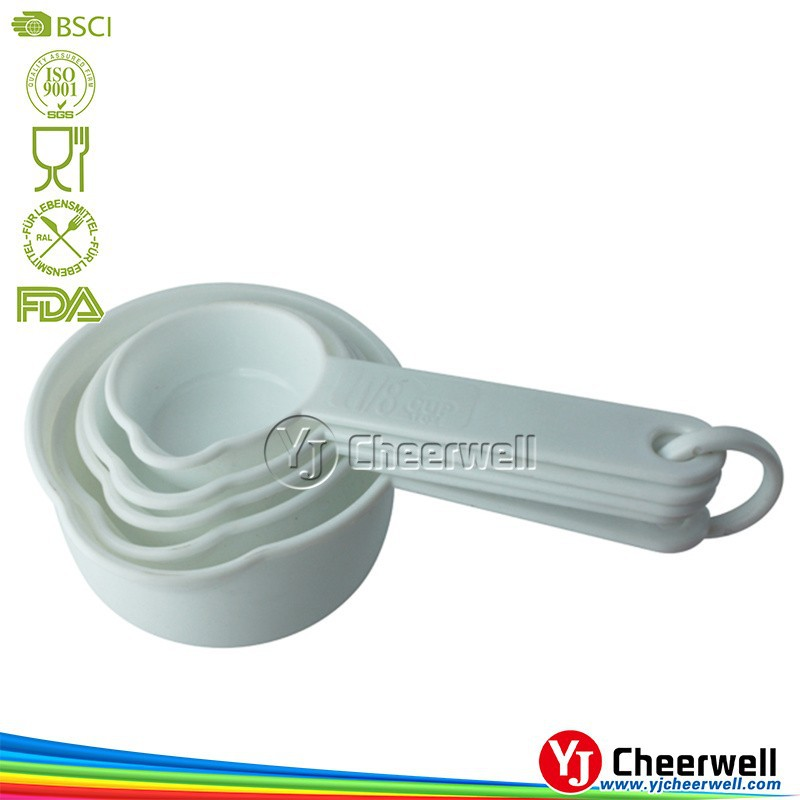 adjustable white color plastic measuring cup