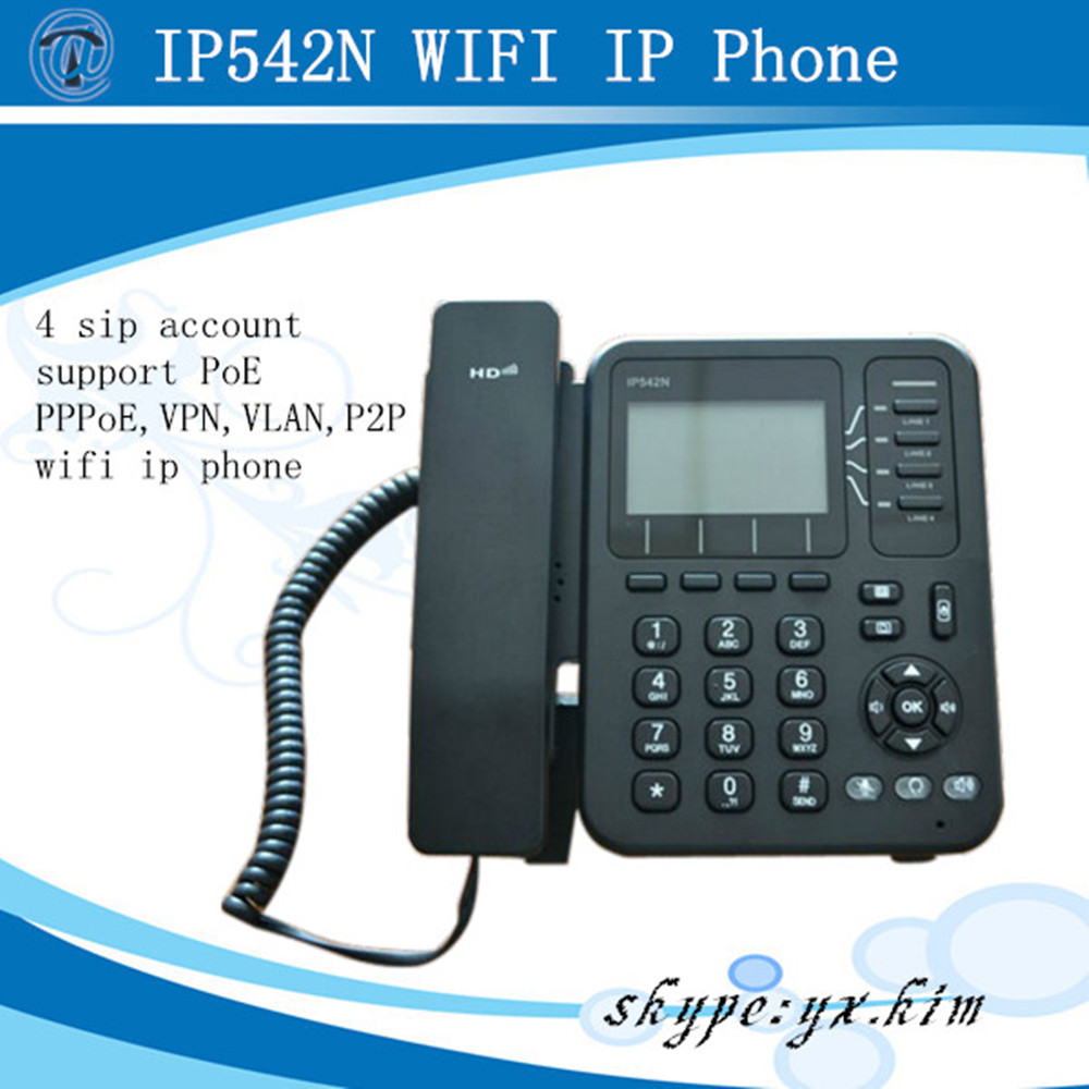 IP542N wifi ip phone with vpn compatible with asterisk/ip pbx support sip & h.323