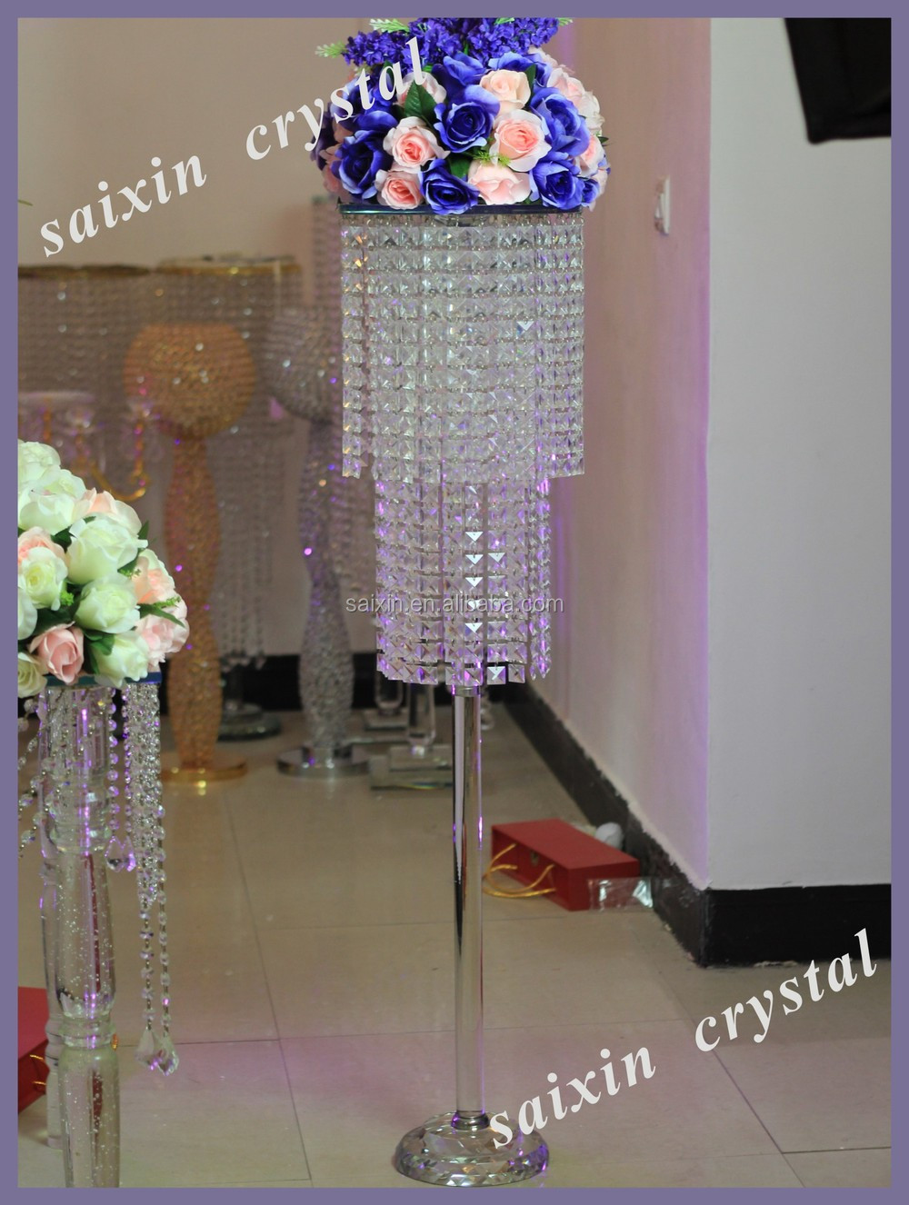 Beautiful crystal standing flower holder for wedding decoration beautiful crystal standing flower holder for wedding decoration centerpieces junglespirit Choice Image
