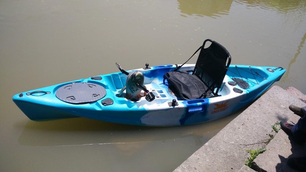 Plastic single pedal kayak for fishing view kayak paddle for Fishing kayak with foot pedals
