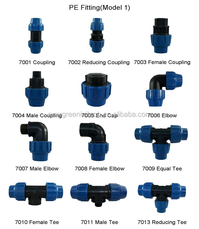 Water Irrigation Compression Pipe Fitting View