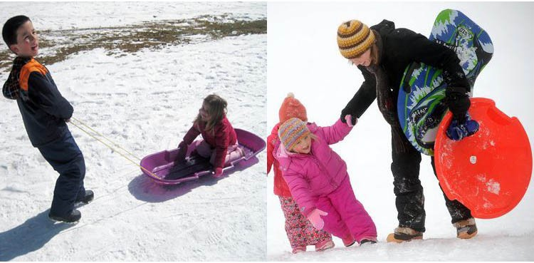 2018 Hot Selling Children Plastic Snow Winter Sled