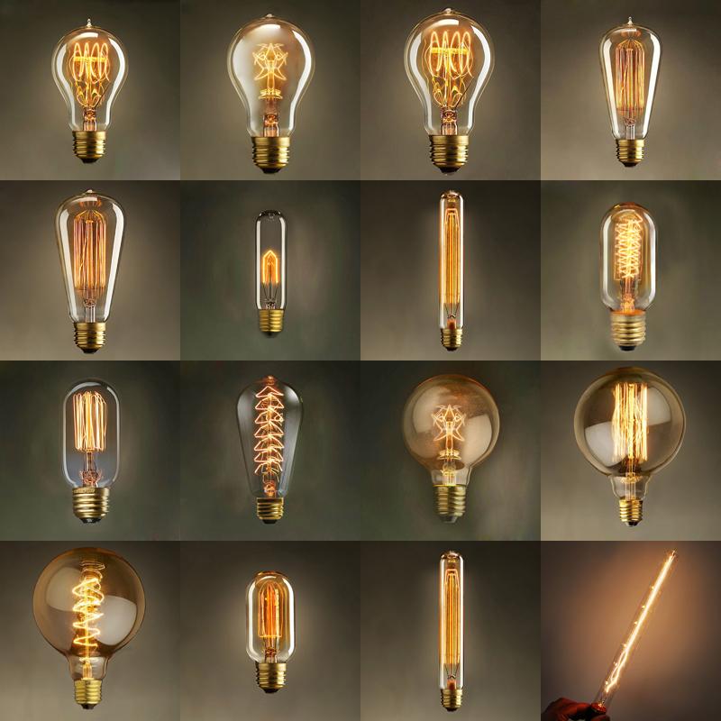 Vintage Edison Bulb Light Lamp Ac 110v 220v E27 Vintage