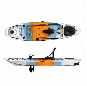China Factory Best New Touring Fishing Kayak Brand Cheap 10ft Rudder System Frame Seat Plastic Sea Kayak With Pedals for Sal