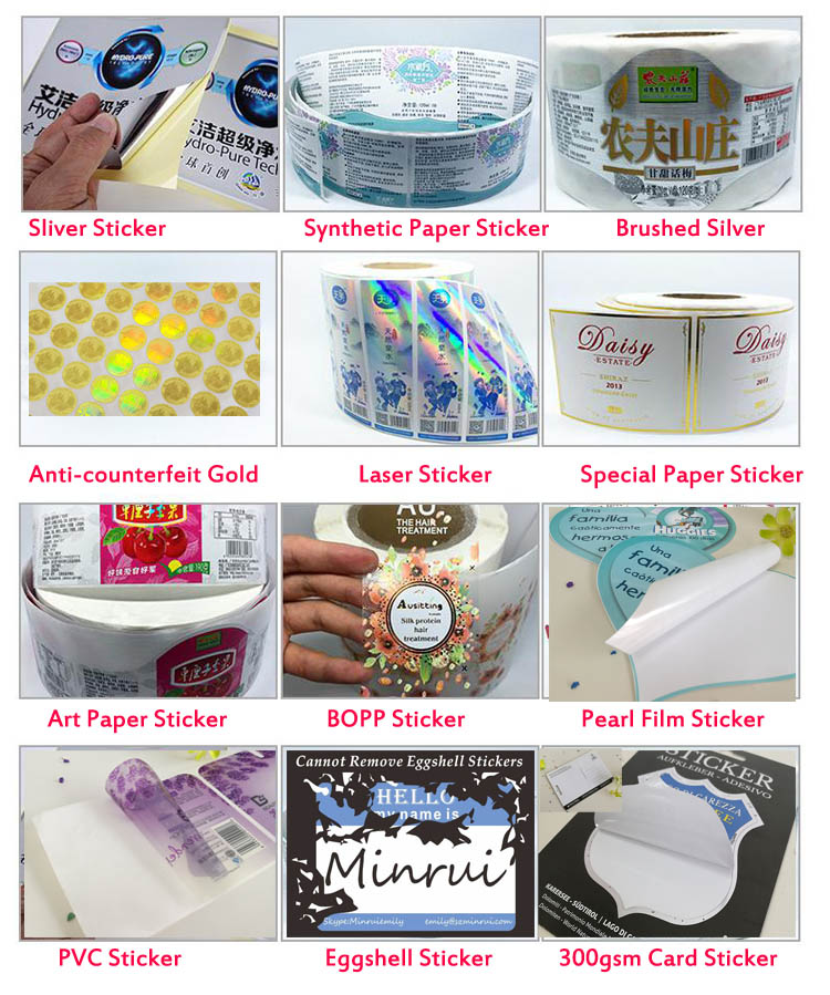 new arrival wholesale cheap pvc alkaline mineral water custom roll sticker label printing