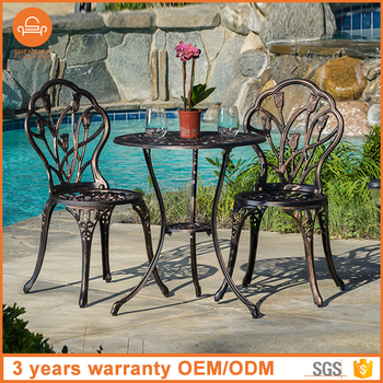 Amazing Europe Type Style High Quality 2 Seater Cafe Set Cast Aluminum Patio Bistro Table And Chairs Wholeale Alibaba Outdoor Furniture Buy Alibaba Outdoor Home Interior And Landscaping Eliaenasavecom