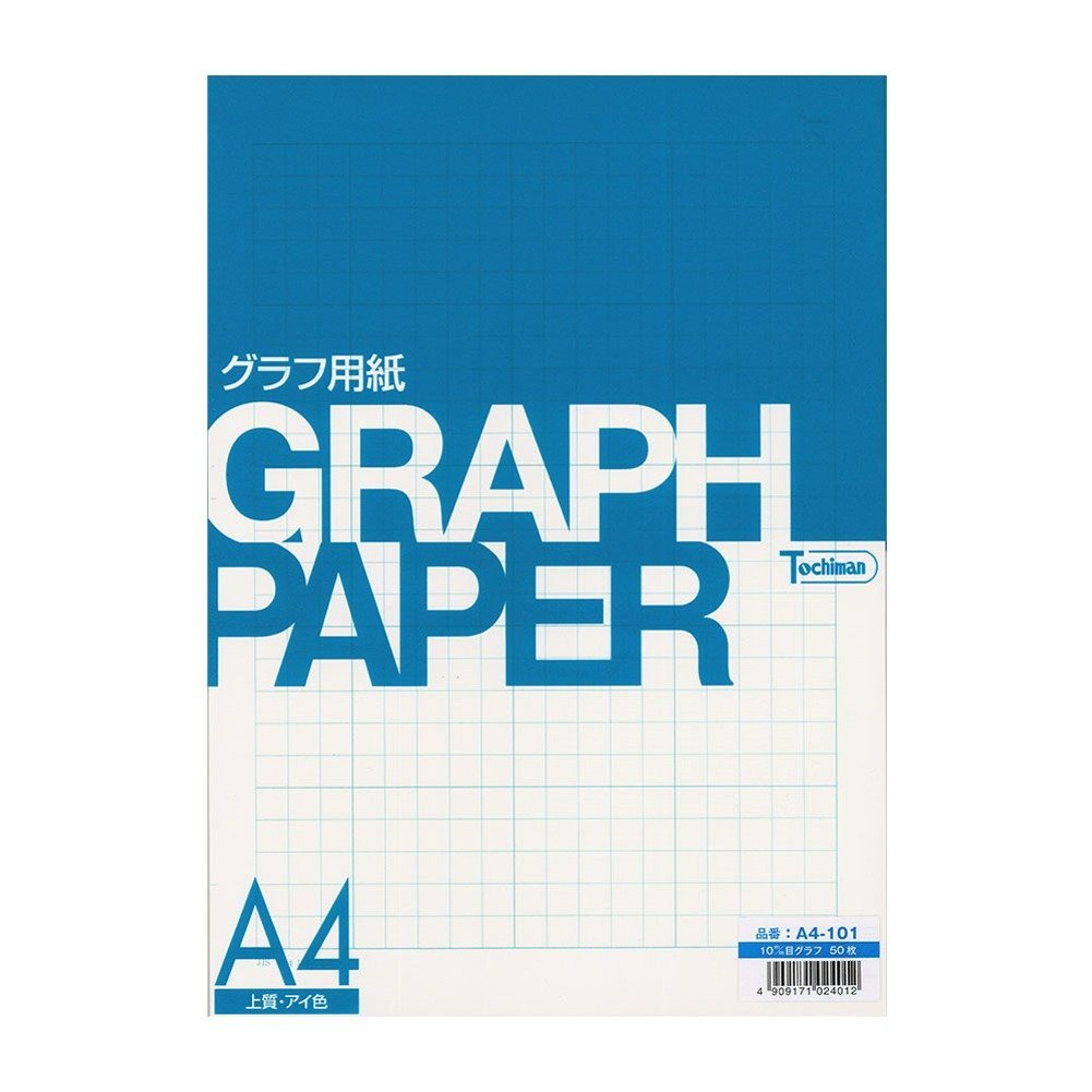 Sakaeshigyo Tochiman graph paper 10 mm grid A4 50 sheets eye color paper 81.4 g A4-101