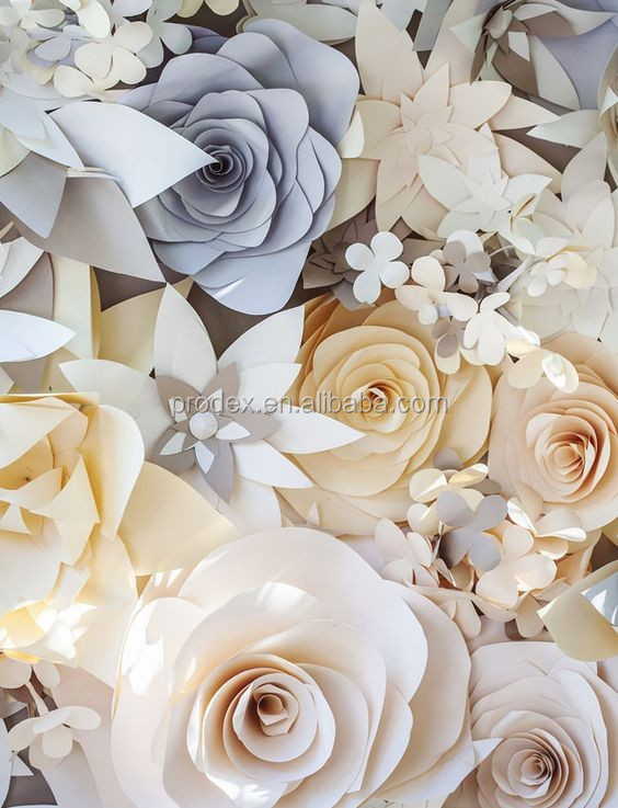 2016 Hot Giant Paper Flowers Wall Wedding