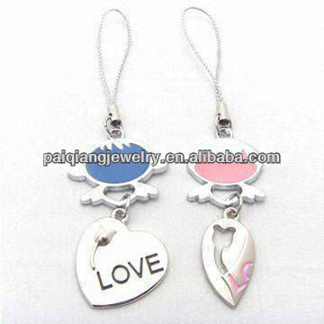 Best selling Couple cell phone charm wholesale