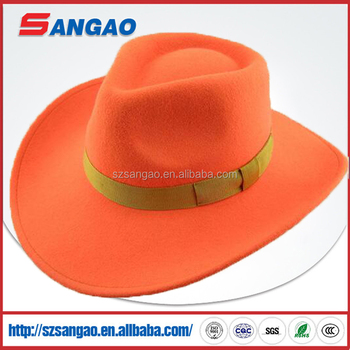 Big Brim Blaze Orange Cowboy Hat 3ea6928da80