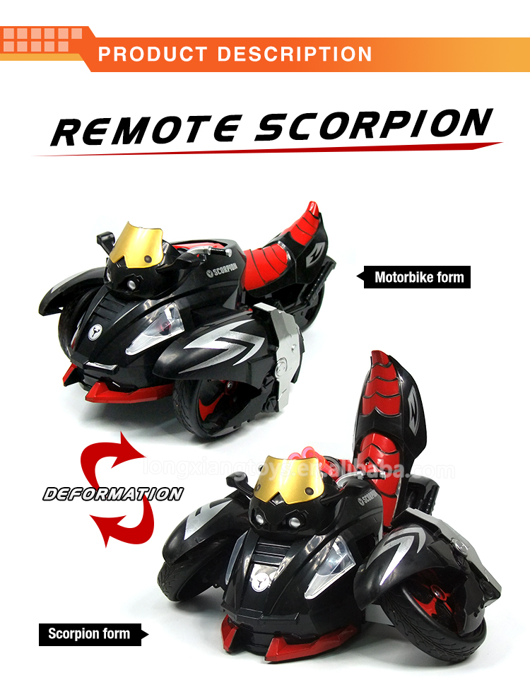 Latest Remote control Transformable Scorpion Car For Kids