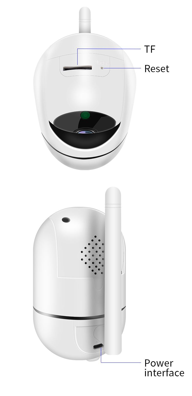 Wireless Auto Rotate 360 degree Viewing Remote Hidden IP Camera with Two-way Audio