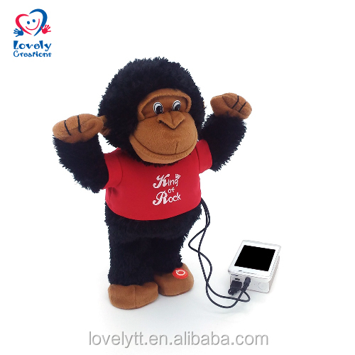 "13"" Dancing Music Speaker Player Gorilla Plush Stuffed Toys plush toy speaker"