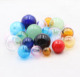 Wholesale Hand Blown Crystal Glass Bulk Scented Aroma Fragrance Beads with Single Hole for Metal Magic Box Necklace