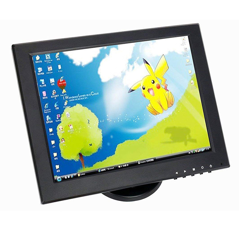 Stable Stand and Stable Quality Square LCD Monitor 12 Inch TFT LED Super Color TV Monitor